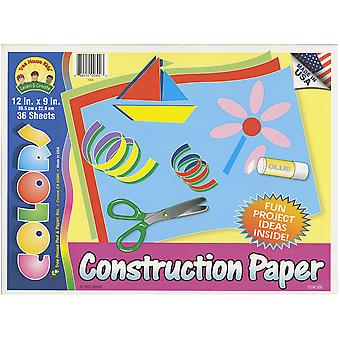 Construction Paper Pad 12