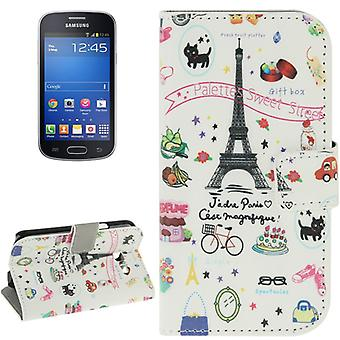 Mobile phone case pouch for mobile Samsung Galaxy trend Lite Paris Eiffel Tower