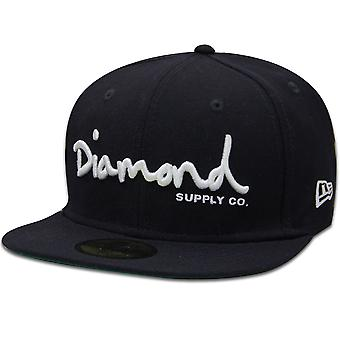 Diamond Supply Co. OG Script nouvelle ère équipée Baseball Cap marine