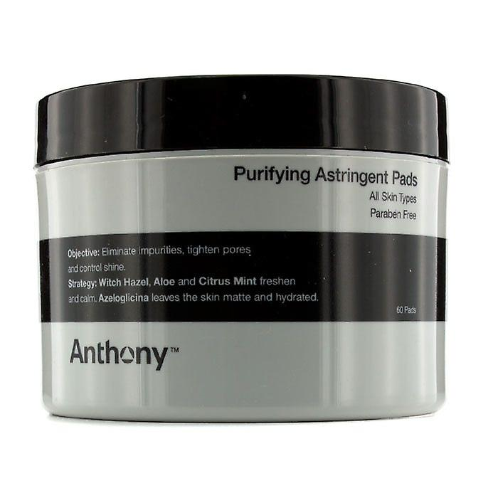 Anthony Logistics For Men purifiant 60pads Pads Astringent (pour tous les Types de peau)