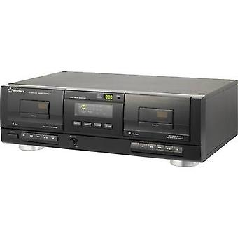 Cassette deck Renkforce TP-1010USB Black Twin cassette deck, USB
