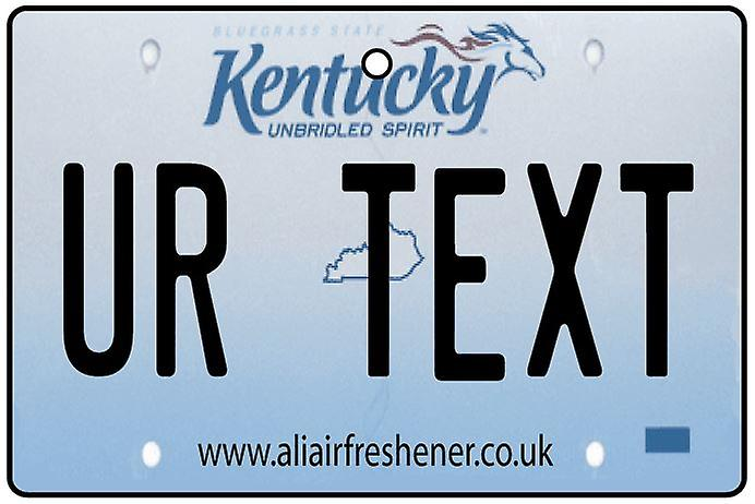 Personalised Kentucky Numberplate Car Air Freshener
