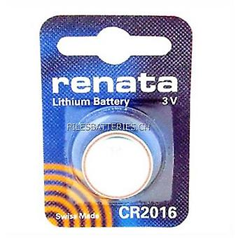 Renata 3 Volt 20.0 x 1.6 mm Lithium Battery - Pack of 10 (CR2016)