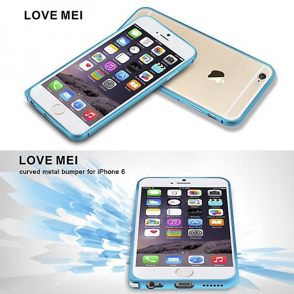 Original LOVE MEI metal bumper black for Apple iPhone 6 4.7