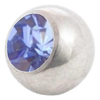 Piercing Replacement Ball, Light Blue | 1,2 x 3 and 4 mm, Body Jewellery