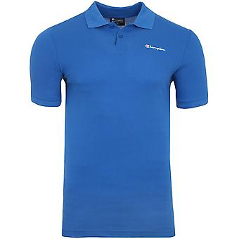Champion Benz Polo Shirt Herren Poloshirt Blau 210615 025