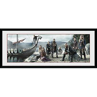 Vikings plage encadrée Collector Print