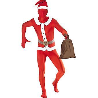 Tweede huid kostuum Stretchanzug Santa Claus Santa kostuum