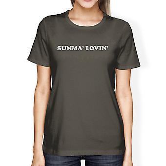 Summa' Lovin ' Womens donker grijze Lichtgewicht katoenen T-shirt geschenken