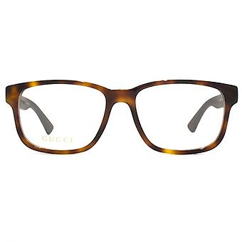 Gucci GG0011O Glasses In Havana Brown
