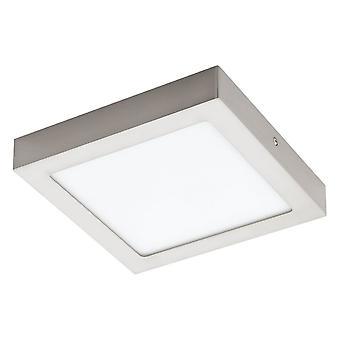 Eglo FUEVA Satin Nickel Square Ceiling Wall Light