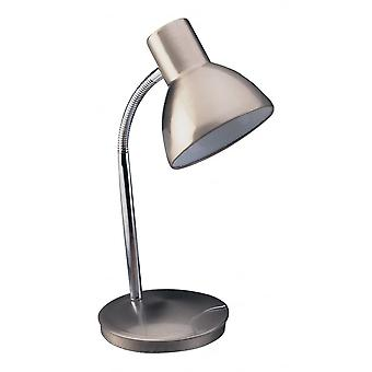 Firstlight Modern Brushed Steel Havard Table Lamp For Study Or Office