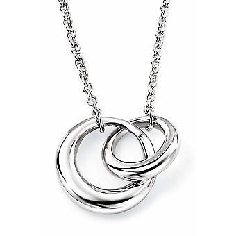 925 Silver Double Rings Necklace