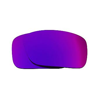 New SEEK Polarized Replacement Lenses for Oakley CRANKCASE Purple Mirror