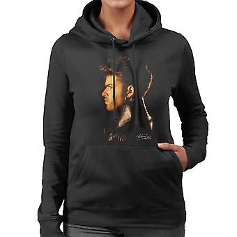 George Michael Side Profile 1986 Women's Hooded Sweatshirt
