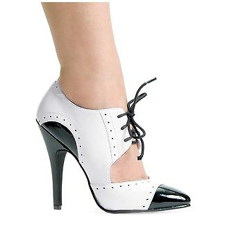 Ellie Shoes E-511-Gangster 5 Heel Two Tone Closed Toe Oxford