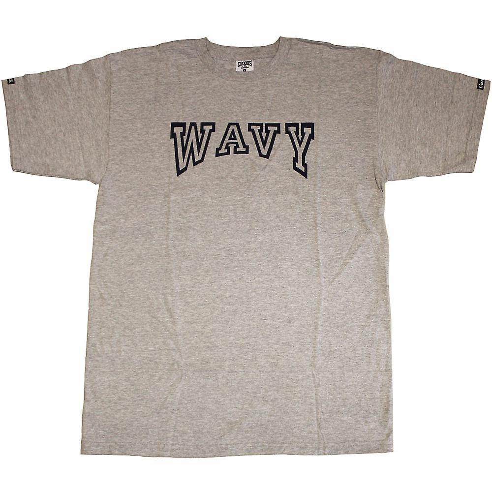 Crooks & Castles Wavy T-Shirt Heather Grey
