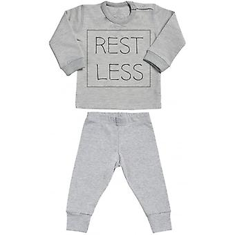 Verwöhnte faulen UNRUHIG Sweatshirt & Jersey Hose Baby Outfit-Set