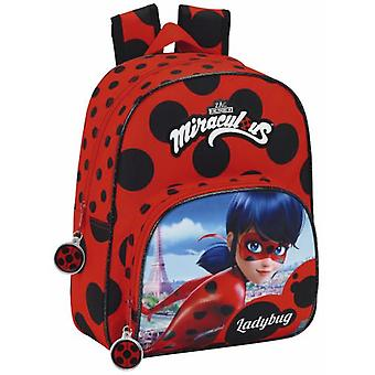 Safta Mochila Infantil adaptable carro lady bug 34 cm
