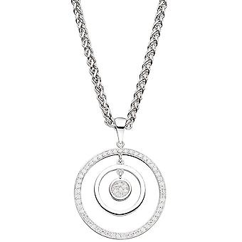 Rhodium-plated pendant around 925 sterling silver with cubic zirconia