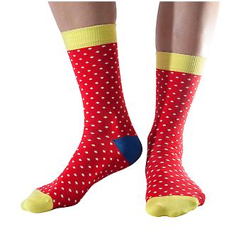 Polka women's soft bamboo crew socks in bright red | By Doris & Dude