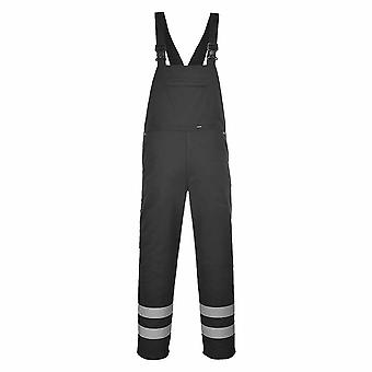 Portwest - Iona Functional Workwear Bib and Brace With Reflective Tape