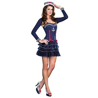 Surf City Sweetie Sailor Navy Retro 1950s Marine Uniform Women Costume