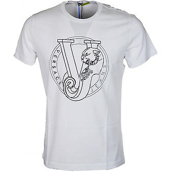 Versace Jeans Jersey Pluto Slim Fit White T-shirt