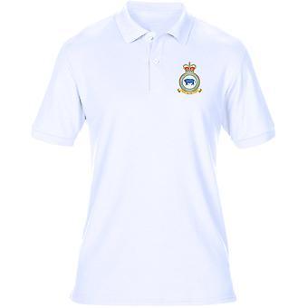 Marham RAF Station broderad Logo - officiell Royal Air Force Mens Polo Shirt