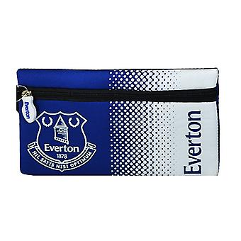 Everton FC Official Fade Flat Football Crest Pencil Case