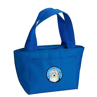 Carolines Schätze LH9396BU-8808 blau Old English Sheepdog Lunch-Bag oder Doggi