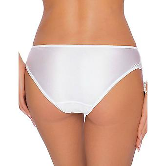 Roza Women's Kalisi White Floral Embroidered Knickers Panty Brief