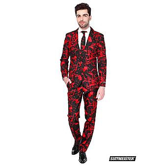 Black blood Halloween Suitmeister slimline economy 3-piece suit