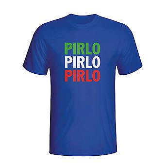 Andrea Pirlo Italy Player Flag T-shirt (blue)