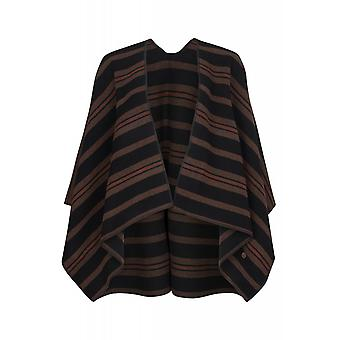 Lee Burnt Henna Cape Damen Poncho Schwarz L52PTIMU