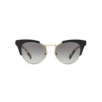 Valentino Metal Bridge Cateye Sunglasses In Black