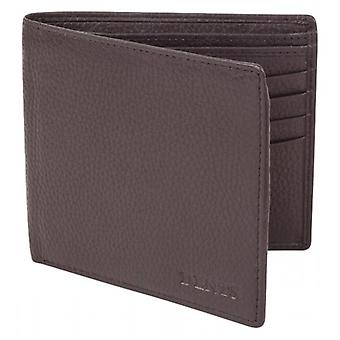 Dents Pebble Grain RFID Blocking Wallet - Chocolate