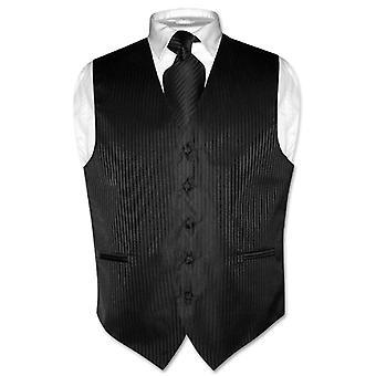 Мужской жилет платье & галстук вертикальной полосатые дизайн шеи галстук набор
