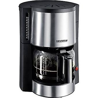Coffee maker Severin KA 4312 Stainless steel (brushed), Black Cup volume=10 Plate warmer