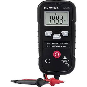 Handheld multimeter Digital VOLTCRAFT VC-13 Calibrated to: Manufacturer's standards (no certificate) CAT III 600 V Disp