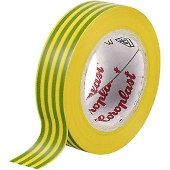Electrical tape Coroplast Green-yellow (L x W) 25 m x 15 mm