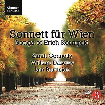 E.W. Korngold - Sonnett F R Wien: Sange af Erich Korngold [CD] USA import