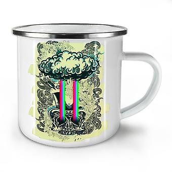 Rainbow Death Cool Skull NEW WhiteTea Coffee Enamel Mug10 oz | Wellcoda