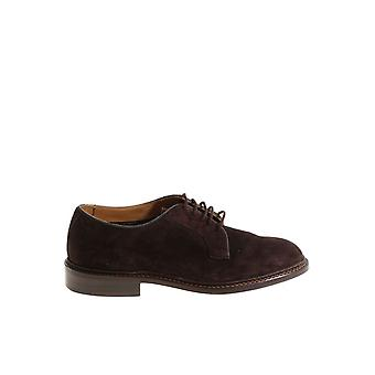 Tricker's men's ROBERTCOFFEE Braun leather lace-up shoes