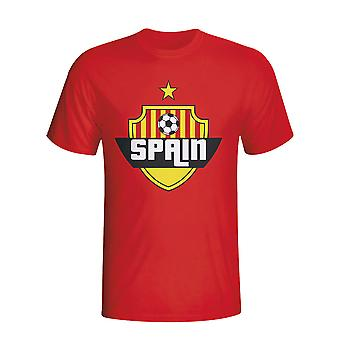 Spain Country Logo T-shirt (red) - Kids