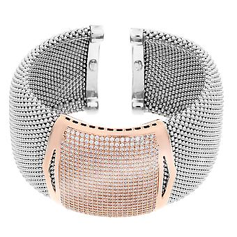 Orphelia Silver 925 Bangle Bicolor Small Pave Zirc  ZA-7162/1