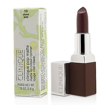 Clinique Pop Matte Lip Colour + Primer - # 10 Clove Pop - 3.9g/0.13oz