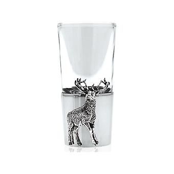 Stag Single Pewter Shot Glass