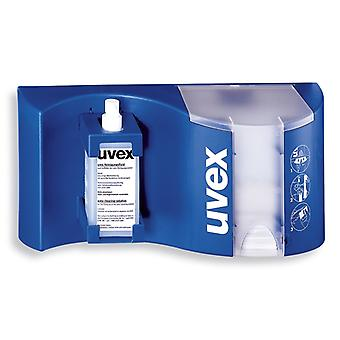 Uvex 9970-002 Complete Wall Mountable Lockable Cleaning Station Blue