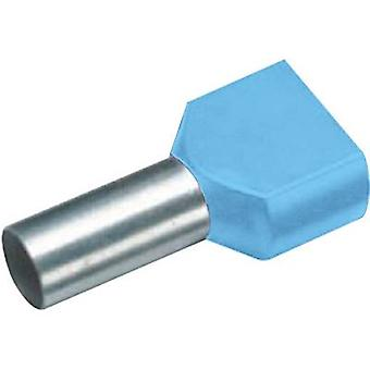 Twin ferrule 2 x 0.75 mm² x 8 mm Partially insulated Blue Vogt V